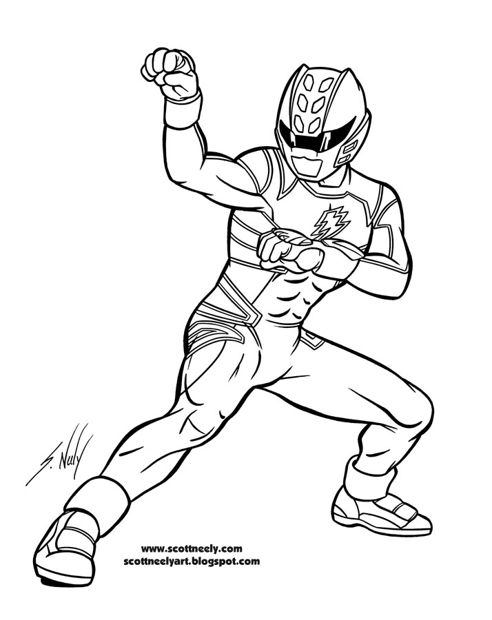 Power rangers jungle fury coloring pages