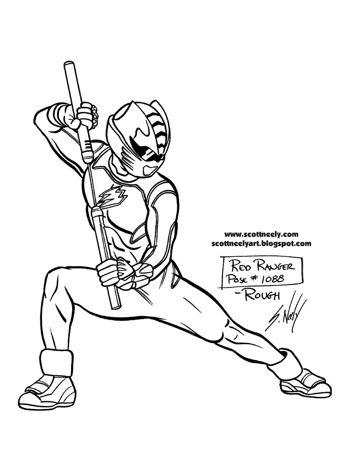 Green mighty morphin power ranger coloring pages coloring for Power ranger jungle fury coloring pages