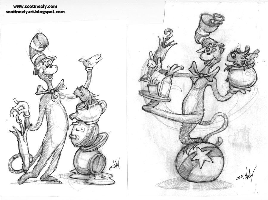 CD_15_Cat In The Hat Salt & Pepper Shakers 1_Pencil Tight Sketch