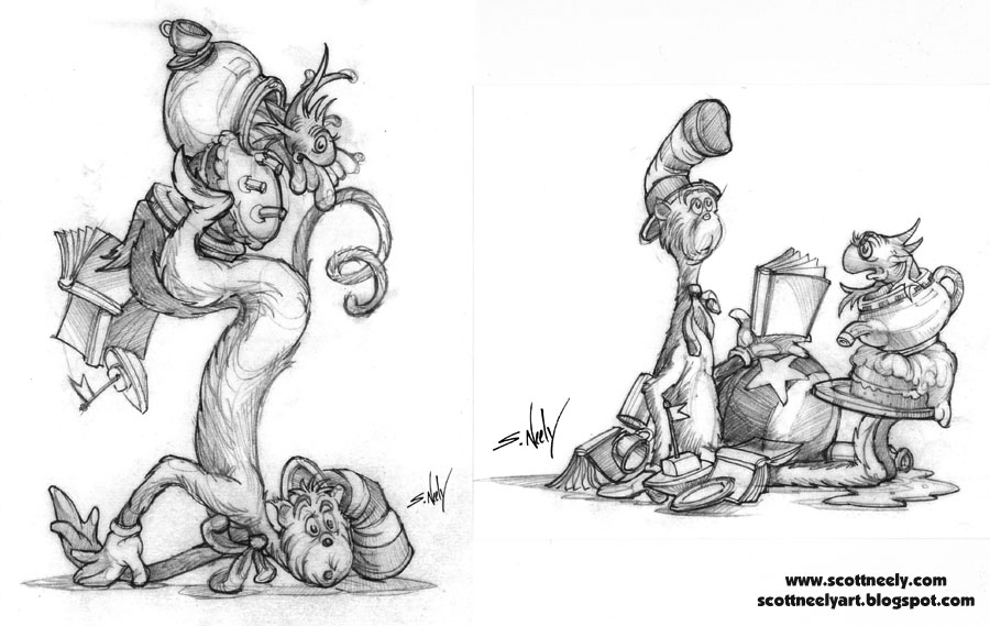 CD_16_Cat In The Hat Salt & Pepper Shakers 2_Pencil Tight Sketch